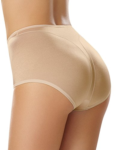 Leonisa Women's High Cut Panty Shaper, Beige, L
