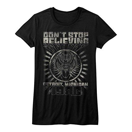 Journey - Womens Detroit T-Shirt, Size: Medium, Color: Black