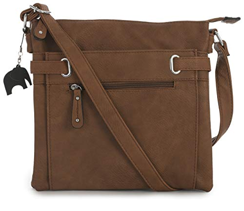 Messenger Storage Charm Tan Bag Design 2 Pocket Medium Shoulder Multi Bag Cross Mabel Protective and Branded Body with pEOUvqwwnB