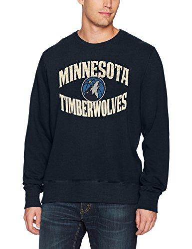 NBA Minnesota Timberwolves Men's OTS Fleece Crew Distressed, Fall Navy, Medium ()