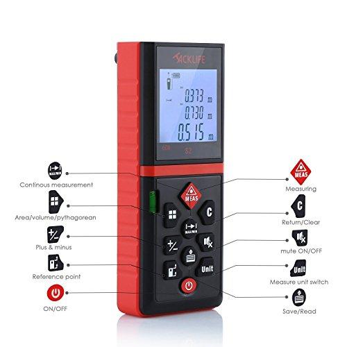 Digital Measuring Devices : Tacklife advanced laser measure ft digital tap
