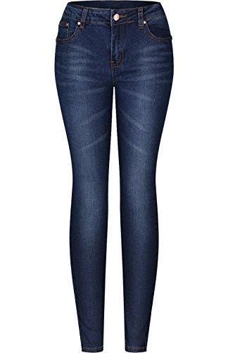 2LUV Women's Stretchy 5 Pocket Skinny Jeans Medium Blue 17