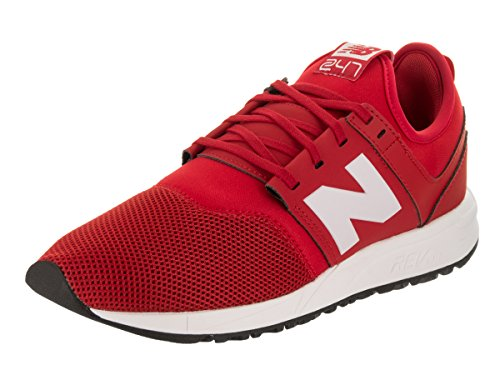 New Balance, Sneaker uomo rosso Red/White