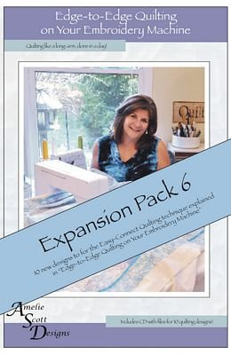 Edge-to-Edge Quilting on Your Embroidery Machine Expansion Pack 6 Quilting Embroidery Designs