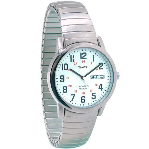 Timex Mens Indiglo Low Vision Watch Exp Band - Low Vision Appliances
