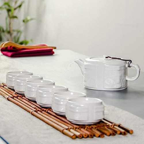 BeesClover Chinese Kung Fu Tea Sets Porcelain Celadon Tea Cups & Teapot Hand Painted Tea Service Exquisite Teaset B023 Show by BeesClover