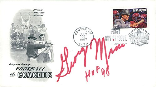 Cover First Collectible Day (Signed Mira, George Legendary Football Coaches First Day Cover autographed)