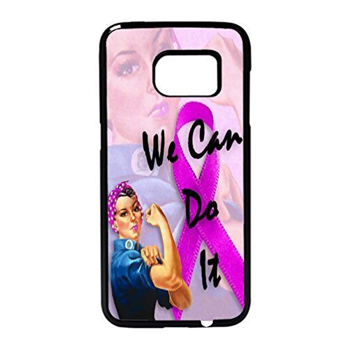 We Can Do It Breast Cancer Awareness Month Rosie The Riveter Case / Color Black Plastic / Device Samsung Galaxy S7 Edge