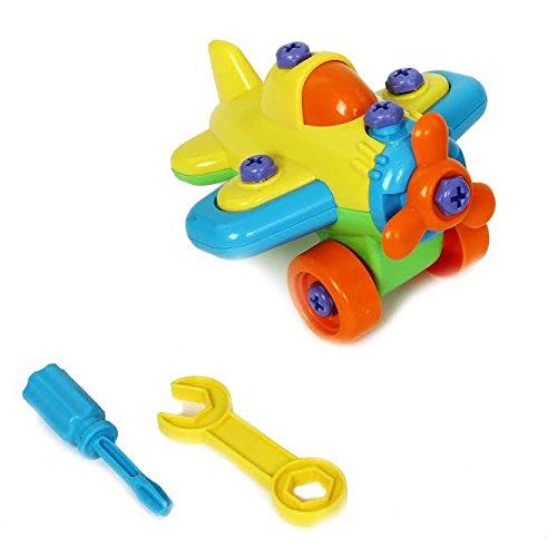 [해외]눈을 부시게하는 장난감은 Take-Apart를 포함하는 차량 세트를 만들고 비행기와 도구를 조립합니다./Dazzling Toys Construct a Vehicle Set Including Take-Apart and Assemble Airplane and Tools.