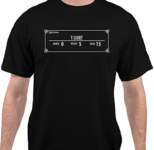 Sweet Tees™ T-Shirt Armor Rating Funny T-Shirt - Black - 4XLarge