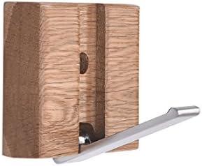 ZEMIN コートラック ウォールマウントコートラック折りたたみ式スタンドハンガーハット服ホルダーフックソリッドウッド、ログカラー、5サイズあり (サイズ さいず : 80*70*20MM)