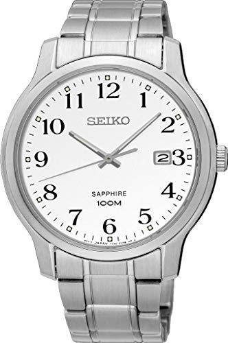 Seiko Sapphire Glass Silver Dial Men's Watch SGEH67