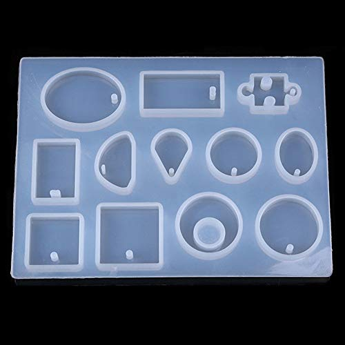 Candle Molds - 1 Set Various Kinds Of Silicone Mold Crystal Jewelry Pendant Necklace Resin Mould Crafts Making Diy - Candle Square Melts Triangle Cylinder Votives Metal Votive Taper Antique Drago]()