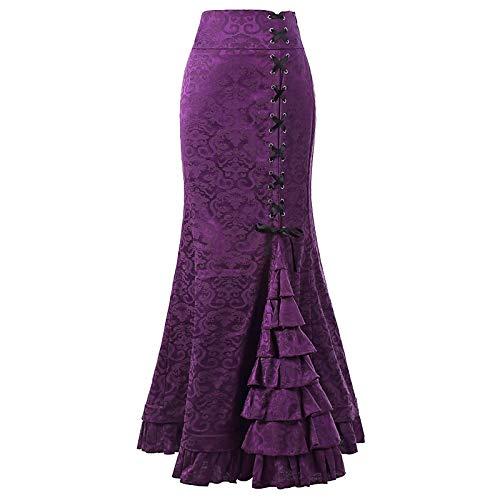 Purple Yfltz A Gonne Basic Da Unita Tinta Donna tromba Sirena xq7aRx