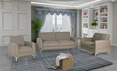 Amazon.com: Esofastore Contemporary Design Grey Color Wheat ...