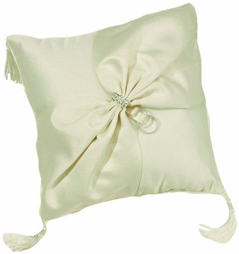 Lillian Rose Elegant Ivory Satin Wedding Ring Pillow Elegant Satin Ring Pillow