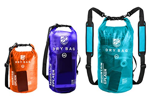 7dc39fea85 Waterproof Dry Bag 5L 10L 20L-Water Resistant Lightweight Backpack with  Handle-