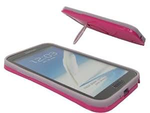 Colorphone BCASGN7100-06 - Carcasa con función atril para Samsung Galaxy Note II (fluorescente), color rosa