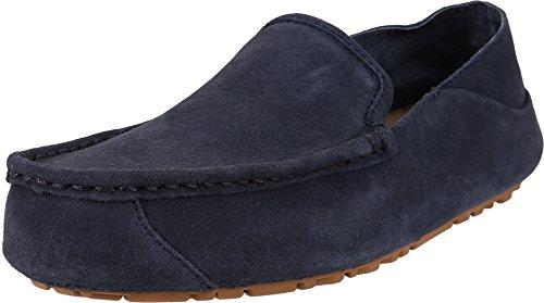 UGG Men's Hunley Navy Suede Loafer - Ugg Suede Loafers Shopping Results
