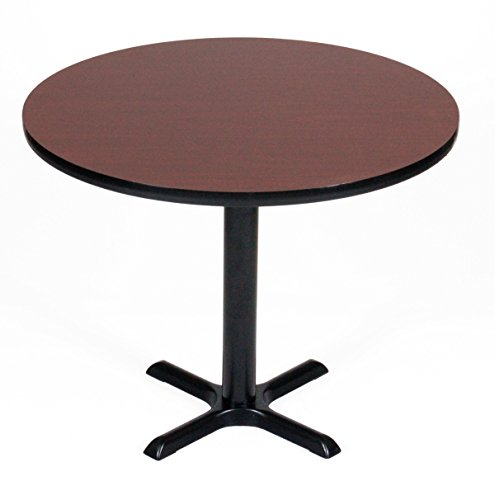 Correll BXT36R-21 Cherry Top and Black Base Round Bar, Café and Break Room Table, 36