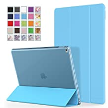 MoKo iPad Pro 12.9 Case - Ultra Slim Lightweight Smart-shell Stand Cover with Translucent Frosted Back Protector for Apple iPad Pro 12.9 Inch iOS 9 2015 Tablet, Light BLUE (with Auto Wake / Sleep)