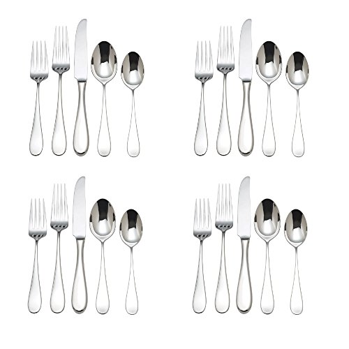 Reed & Barton Dalton 18/10 Stainless Steel 20pc Flatware Set (Service for Four)