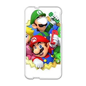 HTC One M7 Cell Phone Case White Mario Party 10 Brgsr