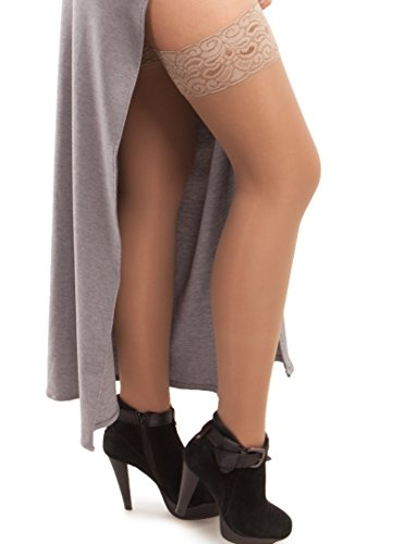 GABRIALLA Sheer Thigh Highs, Compression Support Stockings (23-30 mmHg)