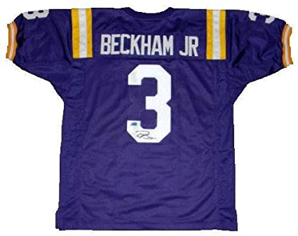 pretty nice e748d 31a6e Signed Odell Beckham Jr. Jersey - #3 Purple Coa ...