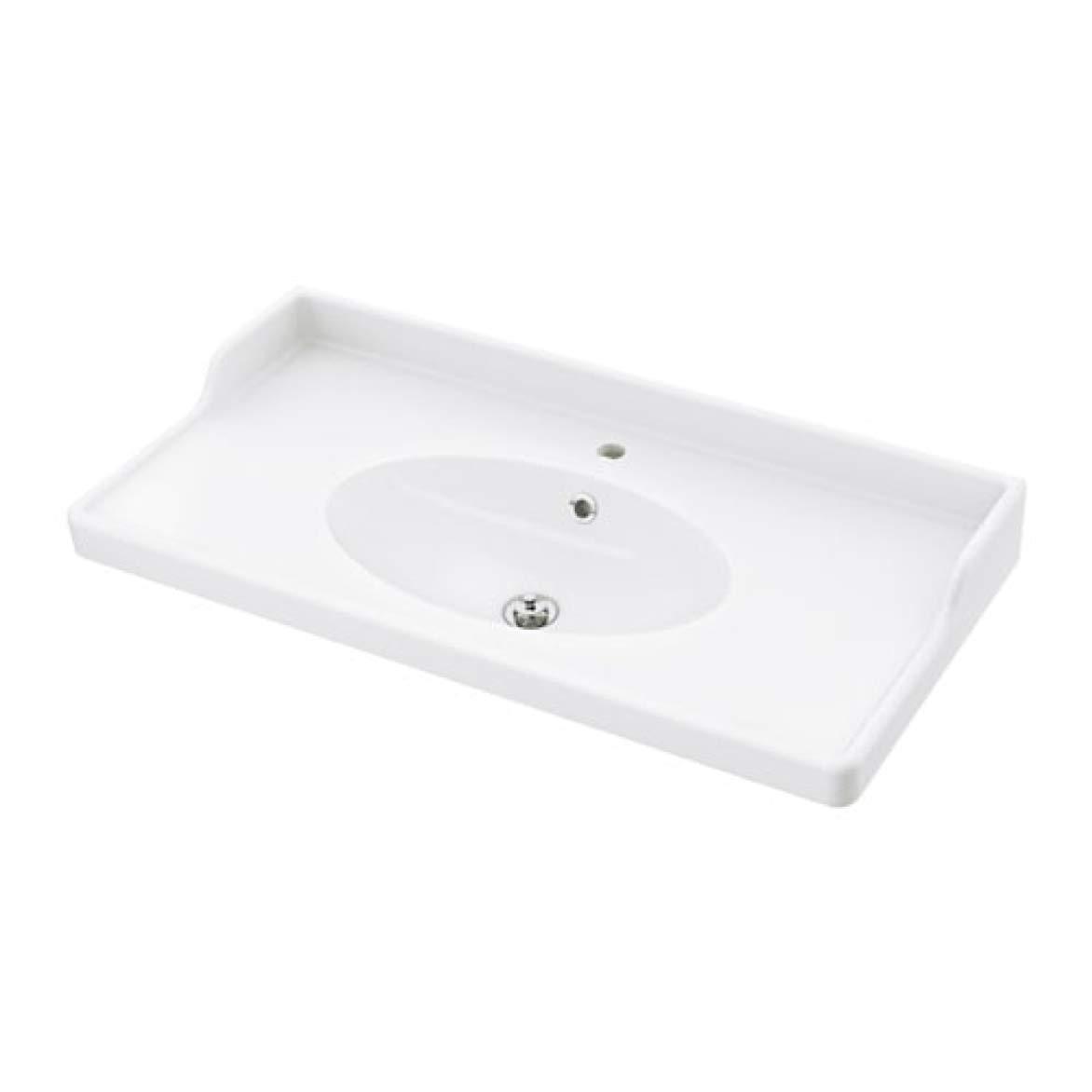 IKEA Rattviken Sink White 802.236.95 Size: 40 1/8x19 1/4x2 3/8'' by IKEA