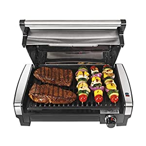 Hamilton Beach Electric Indoor Searing Grill with Viewing Window and Removable Easy-to-Clean Nonstick Plate, 6-Serving…