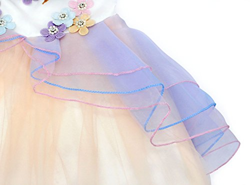 c09403a5dfb71 Cotrio Baby Girls Unicorn Costume Dress Pageant Party Dresses Flower Evening  Gowns Tutu Dress Halloween Outfit