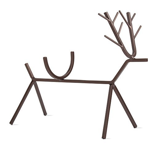 (tag - Reindeer Wine Bottle Holder, A Perfect Addition to Your Holiday Décor and for Holding Standard Sized Wine Bottles, Antique Bronze (9.06