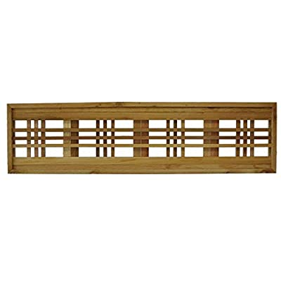 45.75 in. x 12 in. Western Red Cedar Horizontal Pattern Framed Lattice Panel (2-Pack)