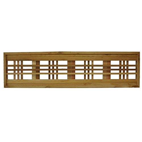 - 45.75 in. x 12 in. Western Red Cedar Horizontal Pattern Framed Lattice Panel (2-Pack)