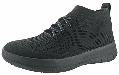 Nero High all 090 Fitflop Sneaker Uberknit Black Top Donna on Slip Collo Alto q4xFwz1pt