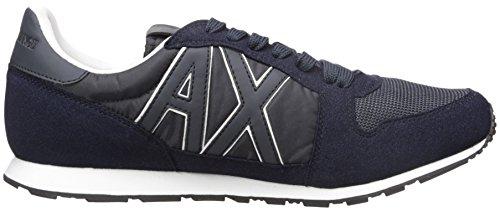A | X Armani Exchange Heren Retro Running Sneaker Fashion Sneaker Marine