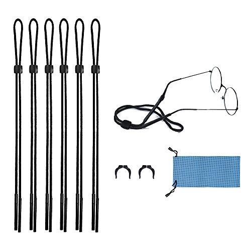 - Glasses Sport Strap Chain Eyeglasses String Keeper Glasses Cord Holder Pack of 6