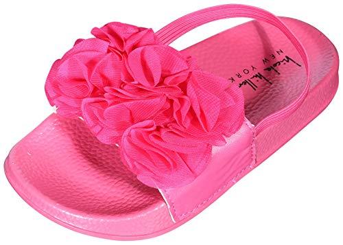 Nicole Miller New York Toddler Girls Flower Slide Sandal (Toddler) (8 M US Toddler, Hot Pink)' - Hot Pink Slide