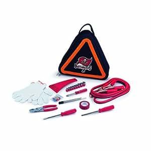 NFL Tampa Bay Buccaneers Roadside Vehicle Emergency Kit Color: Tampa Bay Buccaneers Outdoor, Home, Garden, Supply, Maintenance