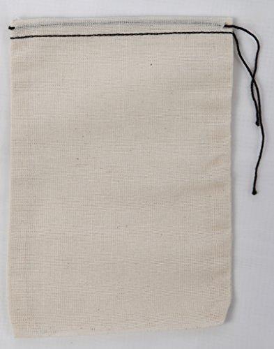 Mill Cloth Bag Borse di mussola 4x6 50 parti Nero