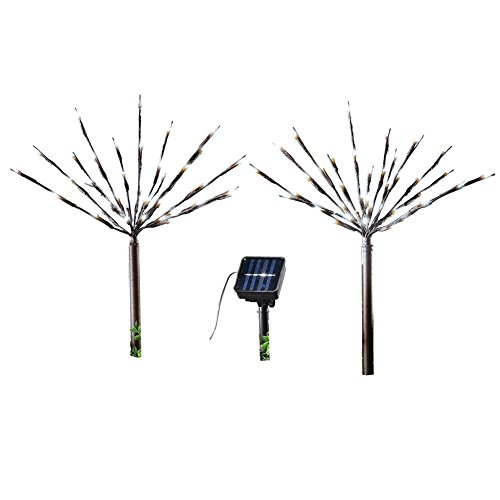 Solar Starburst Branches Garden Decor Yard Stakes - Set Of 2, - Branches Sun Shop