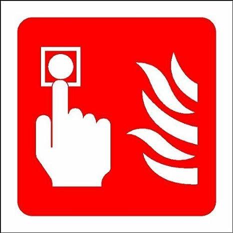 Alarmas de incendio pulsador de alarma con texto en inglés ...