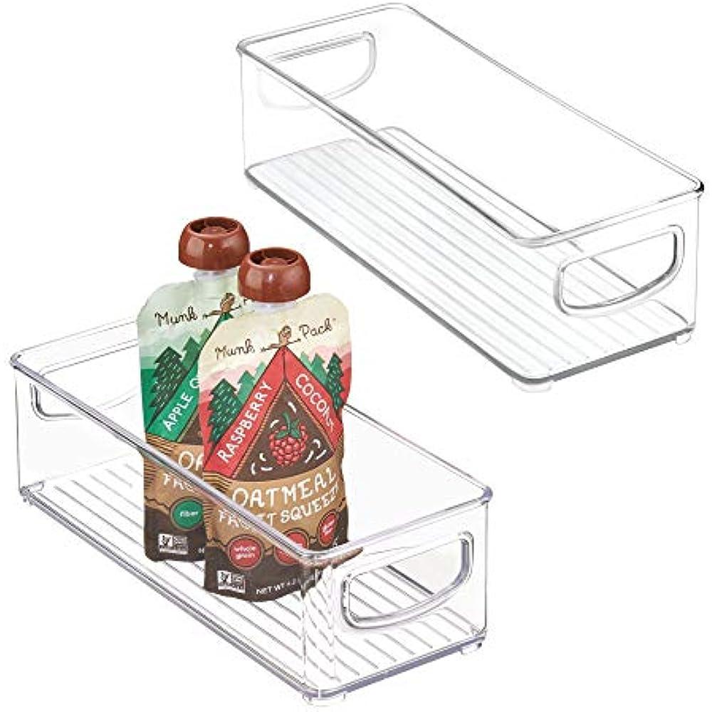 Details About Mdesign Stackable Plastic Food Storage Bin Handles Kitchen Pantry Cabinet 2