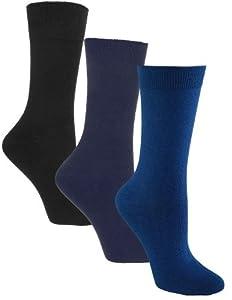 Sugar Free Sox Ladies Assorted 3 Pack Health Socks | Diabetic Socks