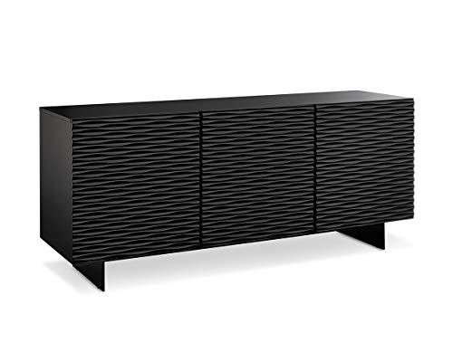 Whiteline Modern Living Sb1425 Blk Modern Vanessa Buffet Server Tv