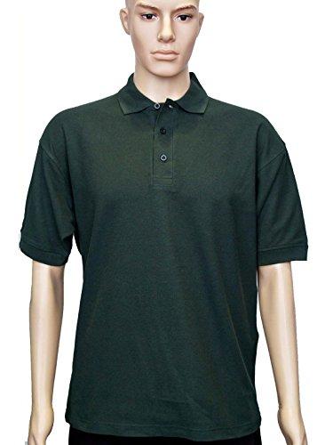 Uneek clothing - Polo - Polo - Polo - Manga Corta - para hombre verde oscuro