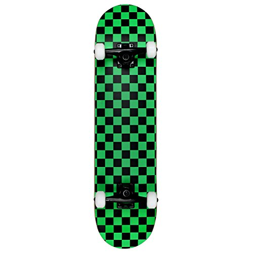"Used, Krown Rookie Checker Skateboard, Black/Green, 7.75"" for sale  Delivered anywhere in USA"