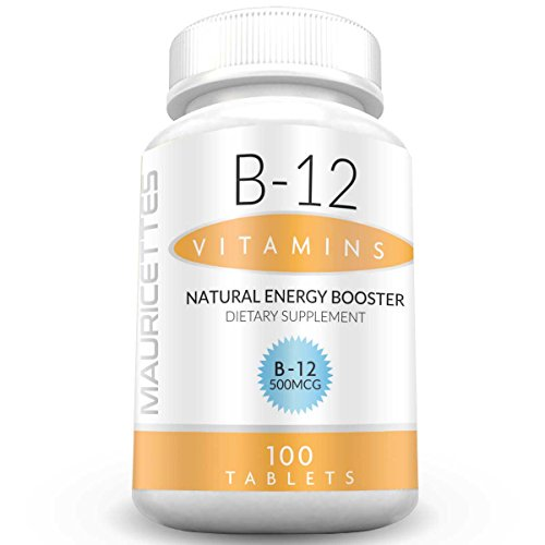 Vitamin B12 500 mcg Supplement - Non-GMO - 100 B 12 Energy Pills Natural Metabolism and Brain Booster for Men and Women