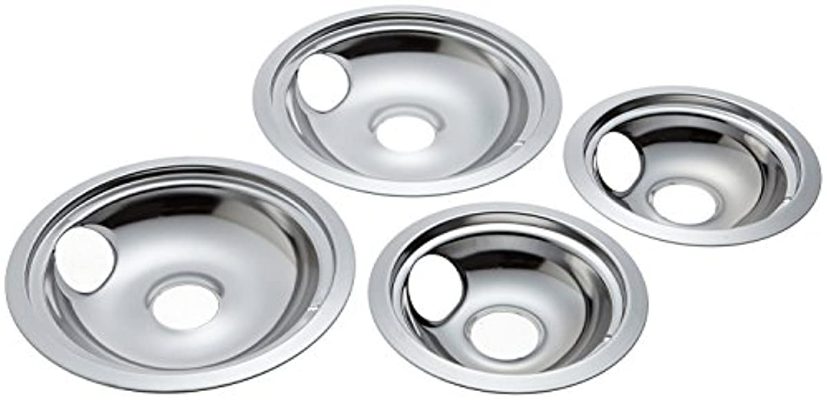 Drip Pans Electric Burner Covers 4 Ge Hotpoint Chrome
